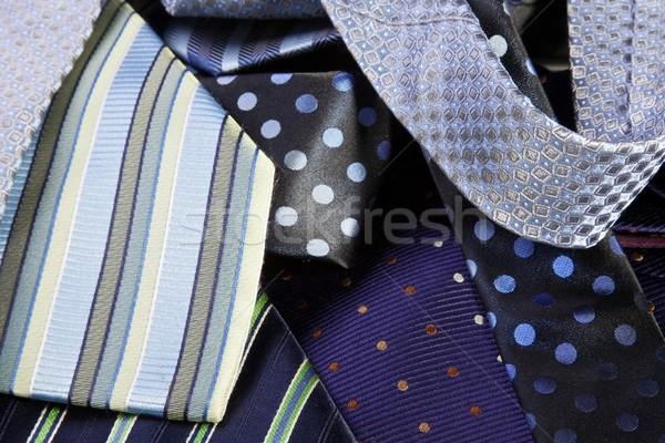 Stock fotó: Nyak · válogatás · munka · absztrakt · üzletember · kék