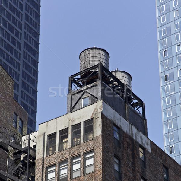 ストックフォト: ニューヨーク市 · ニューヨーク · 水 · タンク · 米国 · オフィス