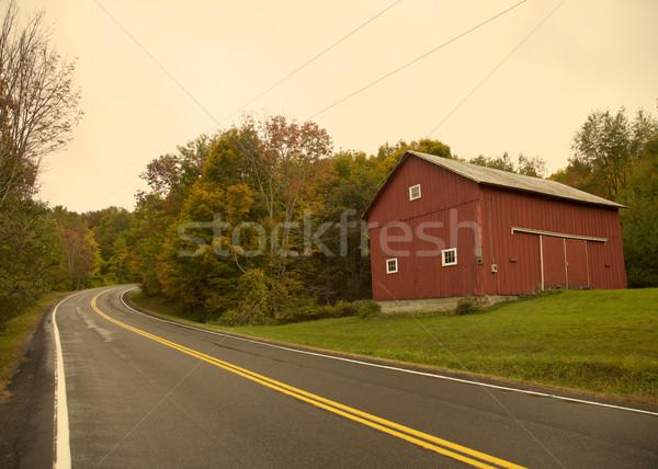 赤 納屋 バーモント州 秋 ストックフォト © Vividrange