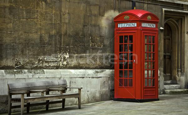 London telefon fülke brit telefon épület Stock fotó © Vividrange