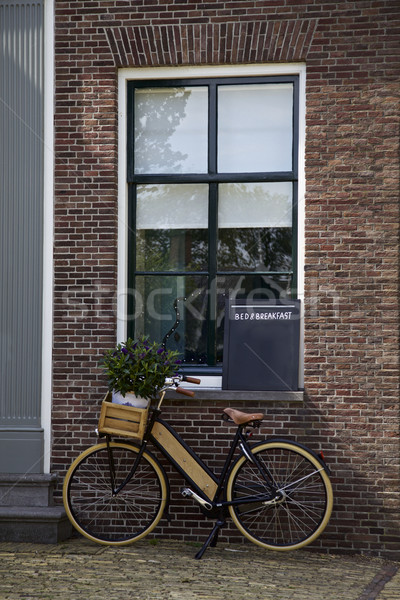 Bicycle, Bed and Breakfast sign, home Stock photo © Vividrange