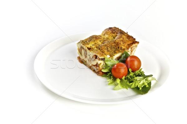 Lasagna insalata piatto pranzo cena Foto d'archivio © Vividrange