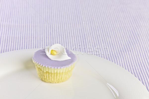 白 プレート 食品 布 食べる ストックフォト © Vividrange