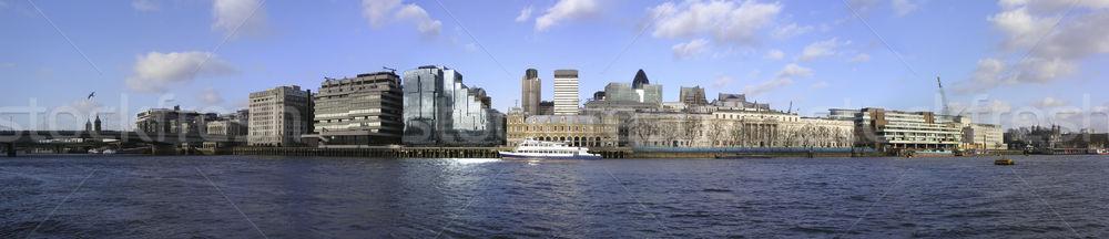 ロンドン 市 アーキテクチャ テムズ川 川 空 ストックフォト © Vividrange