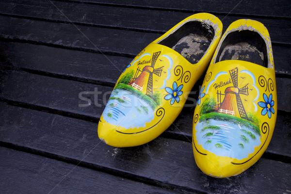 オランダ 木製 靴 ヨーロッパ ファーム 絵画 ストックフォト © Vividrange