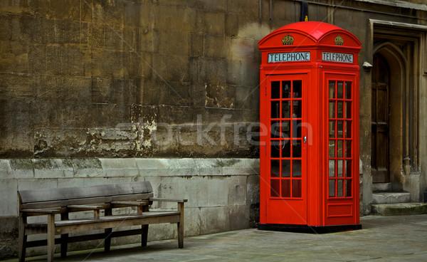 ストックフォト: 英国の · 電話 · ブース · 赤 · ボックス · ロンドン