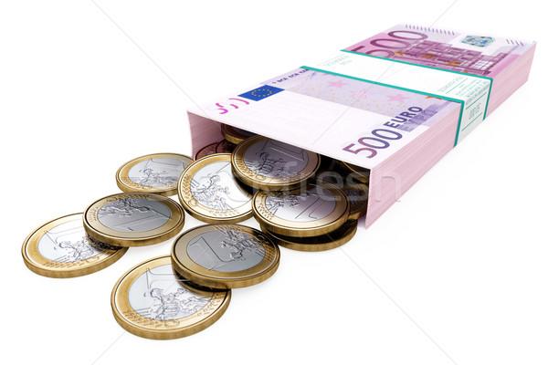euro money box on white isolated background Stock photo © vizarch