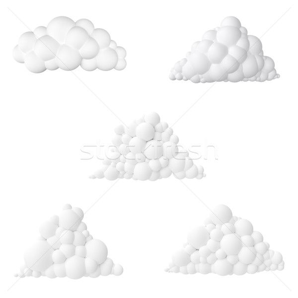 cartoon clouds collection isolated on white background Stock photo © vizarch