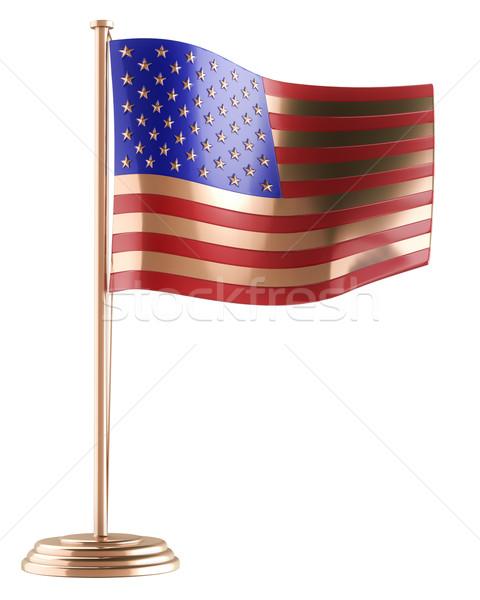 Fém szuvenír nyilatkozat Egyesült Államok család háború Stock fotó © vizarch