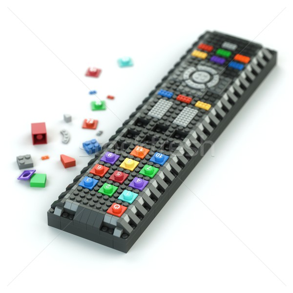 remote control of Lego bricks isolated on white background Stock photo © vizarch