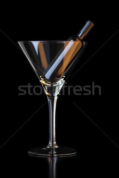 üveg martinis pohár buli háttér zöld hát Stock fotó © vizarch