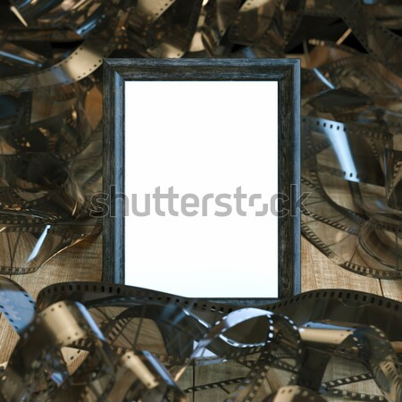 Blank Frame In Classic Interior With Sofa Stock photo © vizarch