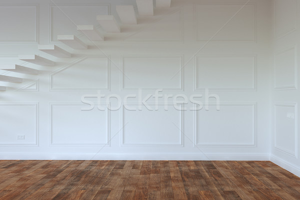 Empty Interior Room With Stairs To Second Floor Stock photo © vizarch