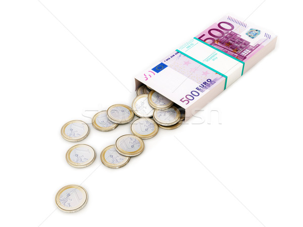 euro money box on white isolated background Stock photo © vizarch