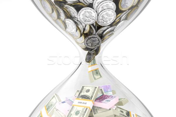 Время-деньги деньги аннотация металл Финансы банка Сток-фото © vizarch