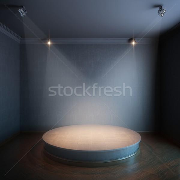 new interior with a round concrete podium Stock photo © vizarch