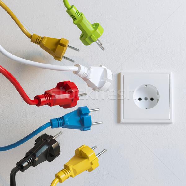Szükség színes verzió fal technológia háttér Stock fotó © vizarch