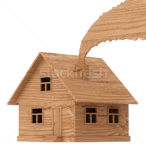 Plywood toy house isolated on white  Stock photo © vizarch