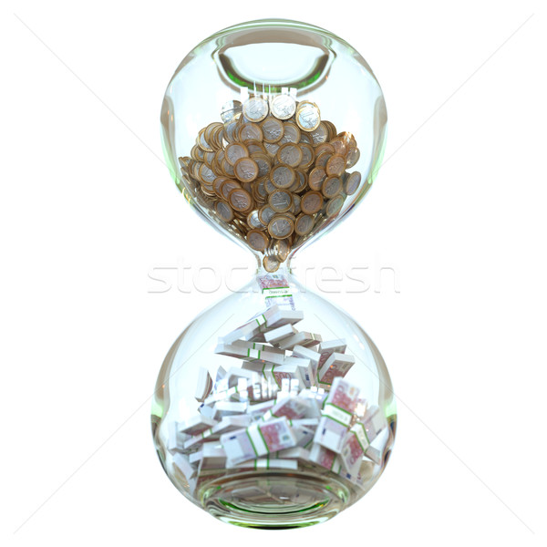 Euro Money In Hourglass (Picture Of Successful Business) Stock photo © vizarch