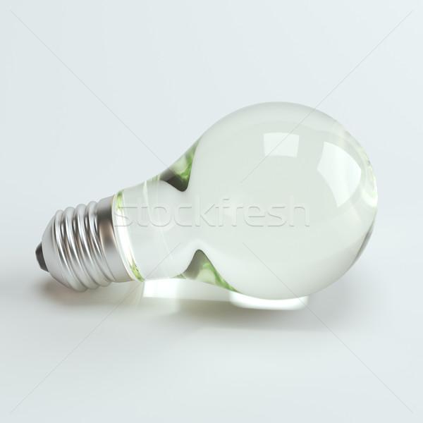 Electric Lightbulb On White Background Stock photo © vizarch