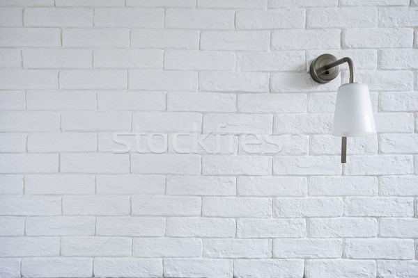 White Misty Brick Wall Background Or Texture With Turn Off Bra Stock photo © vizarch