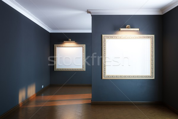 new interior gallery with wooden parquet Stock photo © vizarch