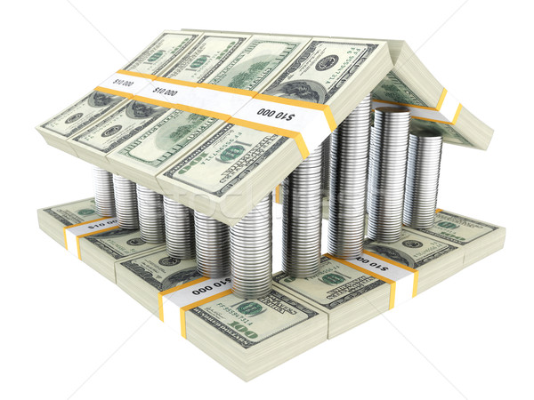 USA pénz épület üzlet család papír Stock fotó © vizarch