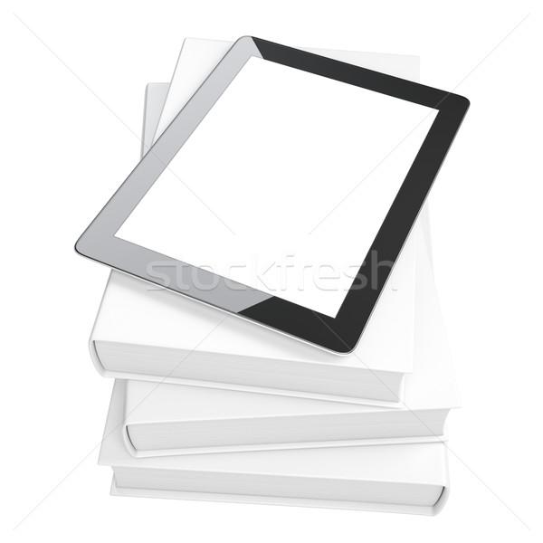 Evolúció média touchpad könyvek üzlet számítógép Stock fotó © vizarch