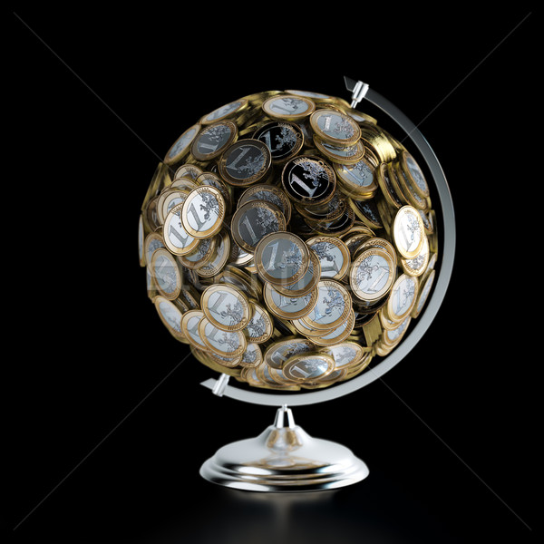 монетами мира деньги фотография бизнеса фон Сток-фото © vizarch
