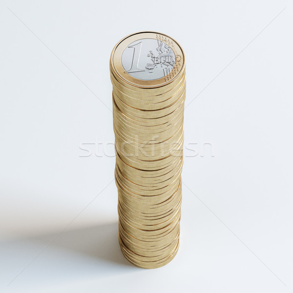Stack Of 1 Euro Coins (Close-Up Picture) Stock photo © vizarch