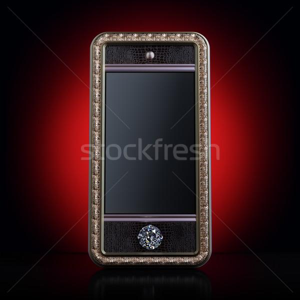 Vip or téléphone portable écran musique main Photo stock © vizarch
