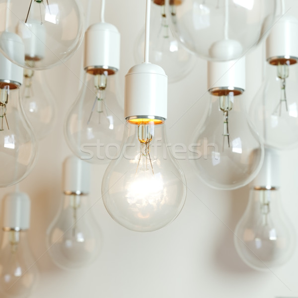 Idea Concept on White Background (With Depth of Field) Stock photo © vizarch