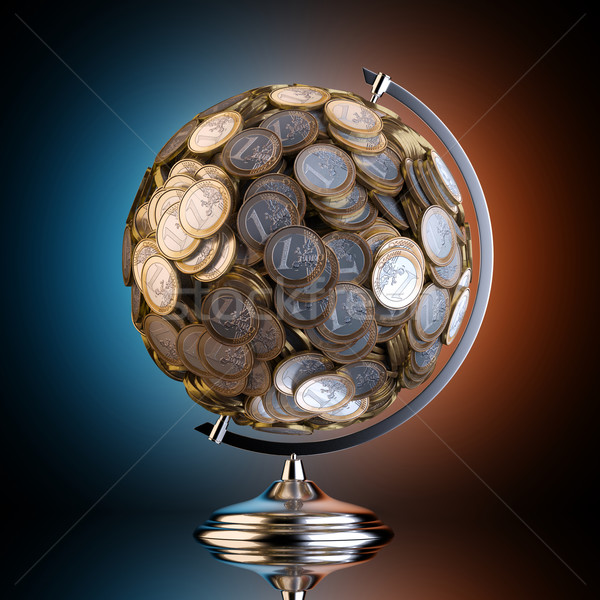 Desktop мира из деньги черный студию Сток-фото © vizarch