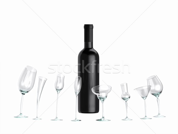 idea for advertising for wine (version isolated on white ) Stock photo © vizarch