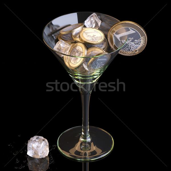Stock fotó: Pénz · üzlet · koktél · fekete · munka · absztrakt