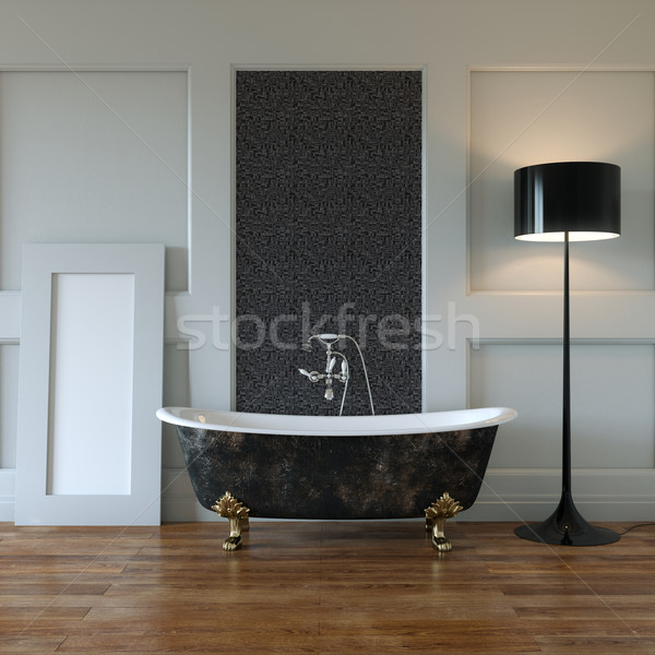 Clássico quarto interior banheira espelho mobiliário Foto stock © vizarch