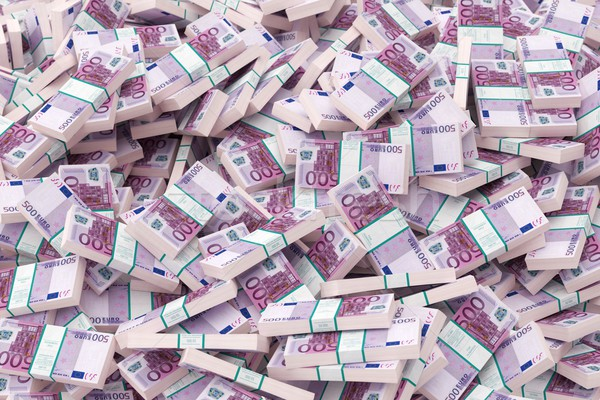 Dinheiro 500 euro versão papel grupo Foto stock © vizarch