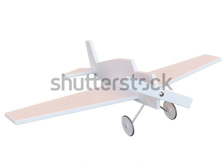 toy plastic plane isolated on white Stock photo © vizarch