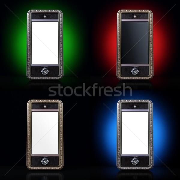 Stock fotó: Klasszikus · érintőképernyő · okostelefon · 3D · renderelt · internet