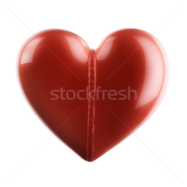 Beautiful Glossy Heart For Valentines Day Greeting Card Stock photo © vizarch