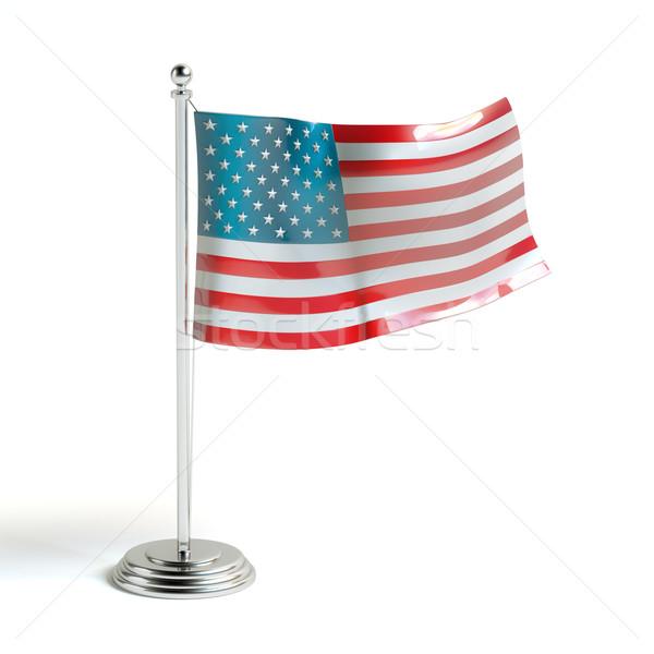 American flag 3d illustration Stock photo © vizarch