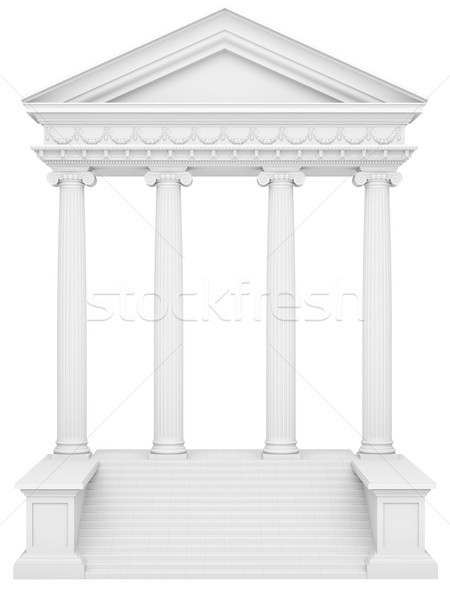 Stock photo: marble columns isolated on a white background
