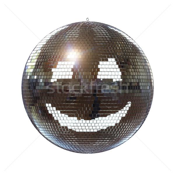 Gülen disko topu yalıtılmış beyaz gülümseme mutlu Stok fotoğraf © vizarch