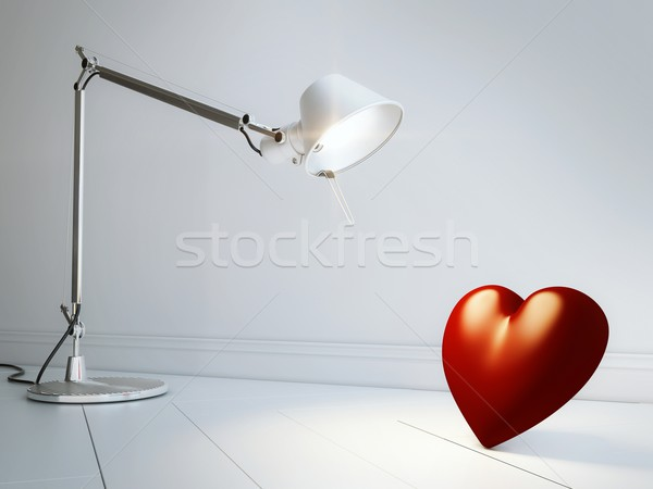 Lamp Looks On Heart (Abstract Valentines Day Design ) Stock photo © vizarch