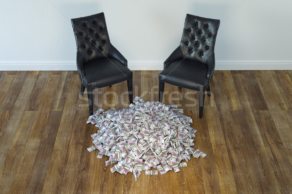 Interior With Black Chairs And Money On Laminate Floor Stock photo © vizarch