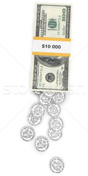 USA pénz felső kilátás fehér izolált Stock fotó © vizarch