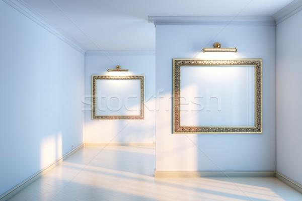 галерея пусто кадры текстуры стены Сток-фото © vizarch