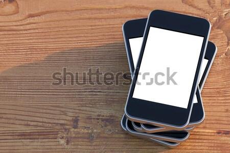 set of smartphones Stock photo © vizarch