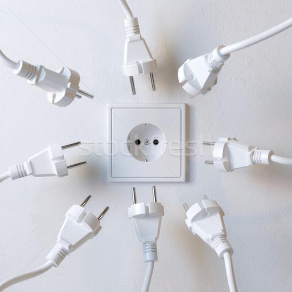 Muitos elétrico poder abstrato casa Foto stock © vizarch