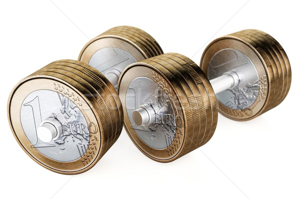 weights of the money to train the business acumen Stock photo © vizarch